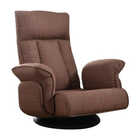 ACME Phemie Convertible Futon Flip Chair in Chocolate Fabric