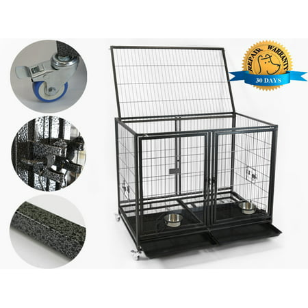 Homey Pet 43 Inch Large Heavy Duty Dog Cage Crate Kennel