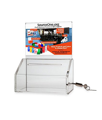 Source One Heavy Duty Donation / Ballot Box with Lock and...