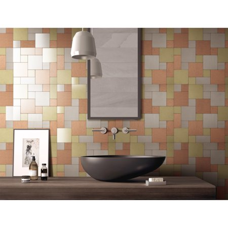 Art3d Self-adhesive Aluminium Backsplash Tile for Kitchen / Bathroom, 12