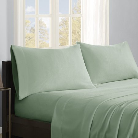 Micro Fleece Sheet Set  Full  Green  Set Includes  1 Flat Sheet  2 Pillowcases  1 Fitted Sheet By True North By Sleep Philosophy