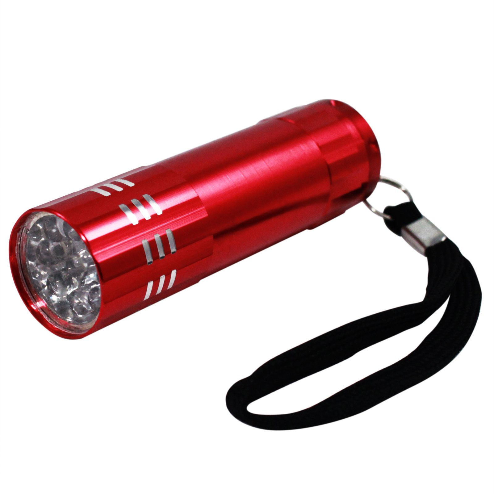 9 LED Super Bright Portable Mini Flashlight with Lanyard (Red)