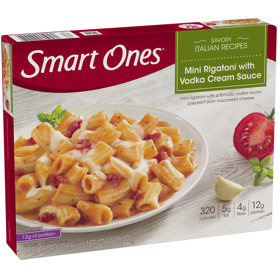 Smart Ones® Savory Italian Recipes Mini Rigatoni with Vodka Cream Sauce 9 oz. Box