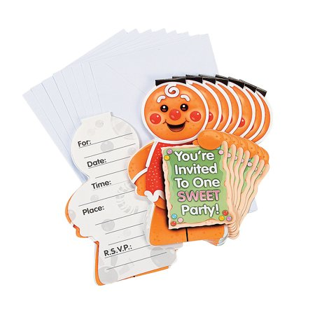 Candy Town Invitations (8Pc) - Party Supplies - 8 Pieces