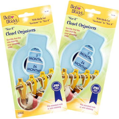 Baby Buddy Size-It Closet Organizers, 5-Count
