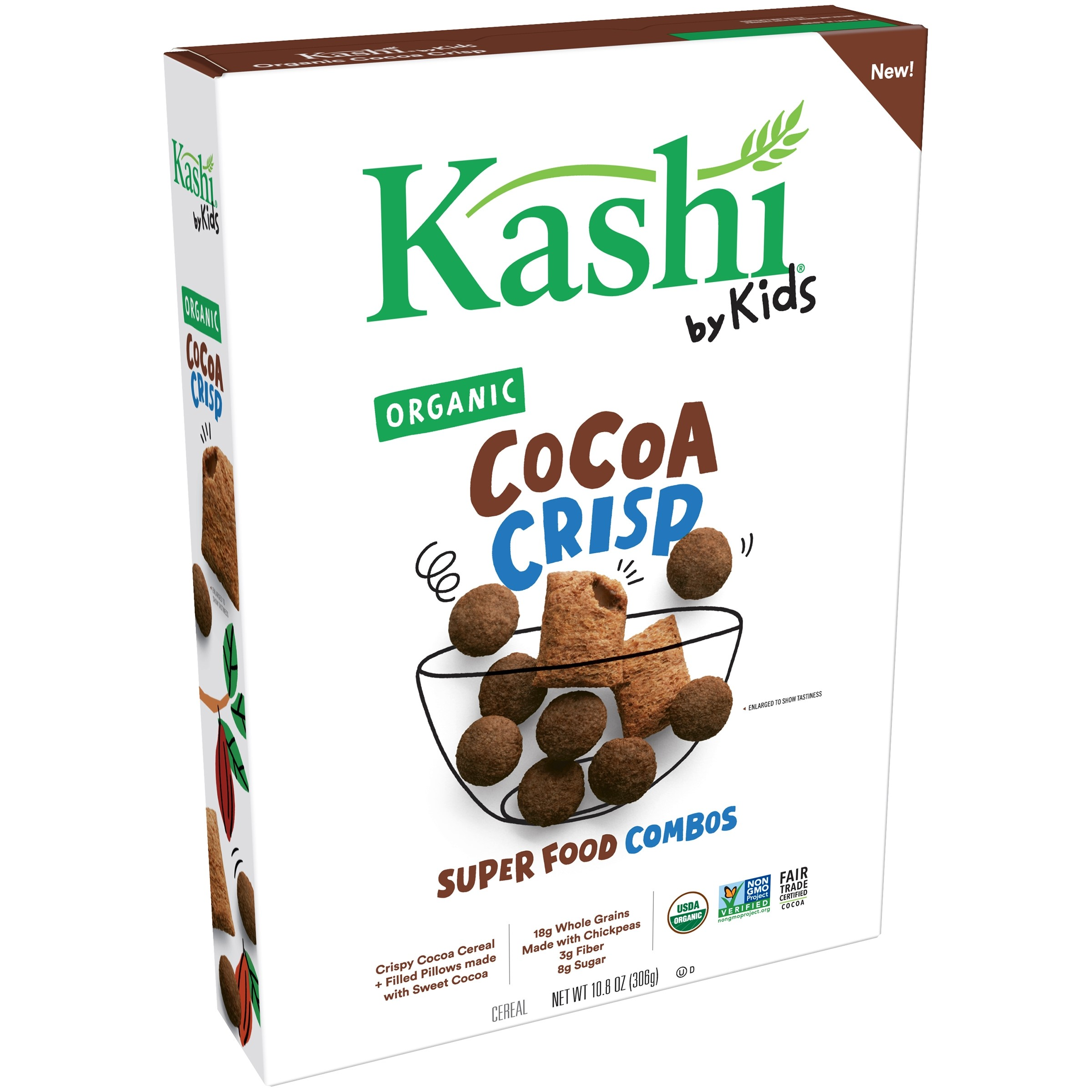 Kashi by Kids Super Food Combos Organic Cocoa Crisp Cereal 10.8 oz