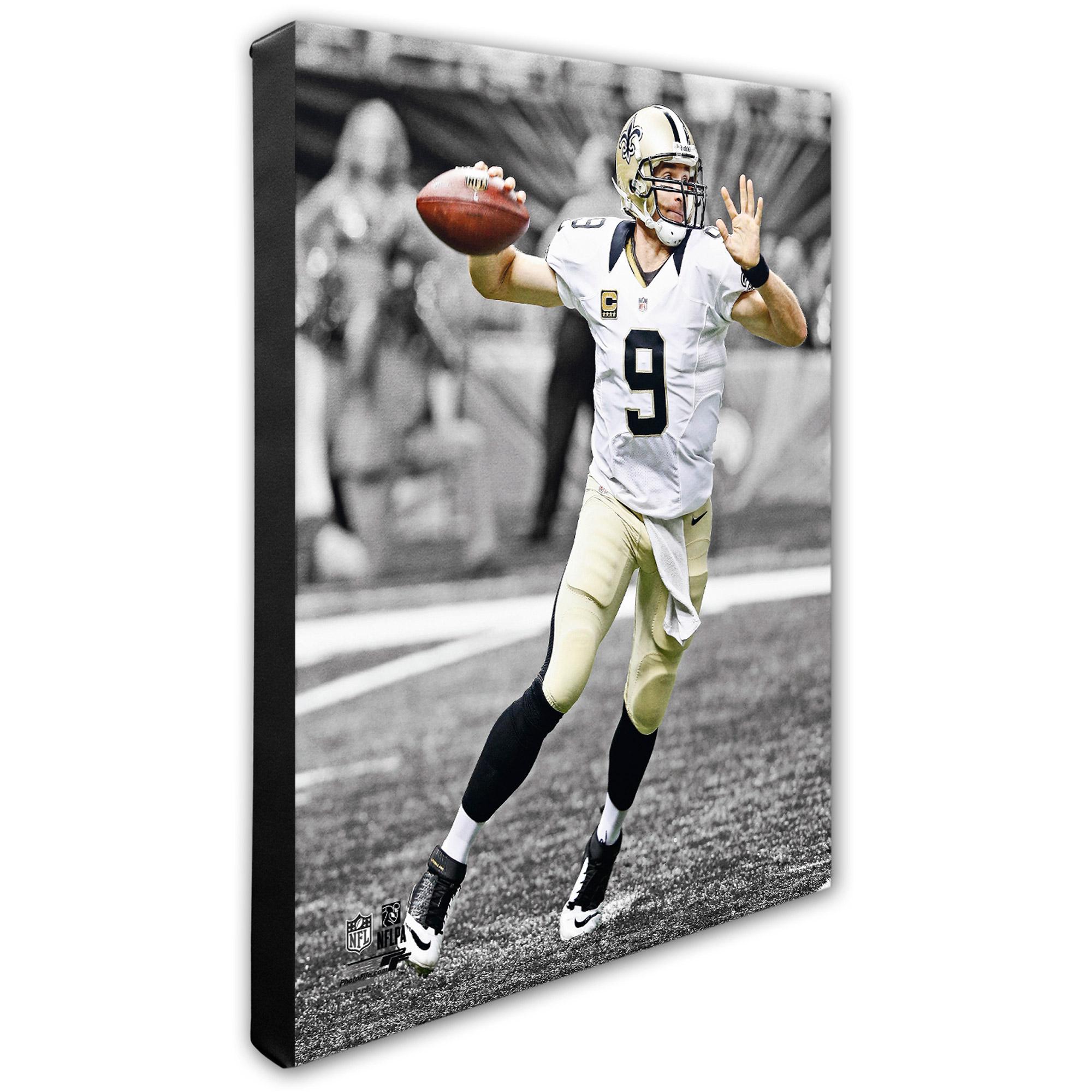 """Drew Brees New Orleans Saints 16"""" x 20"""" Player Canvas - No Size"""