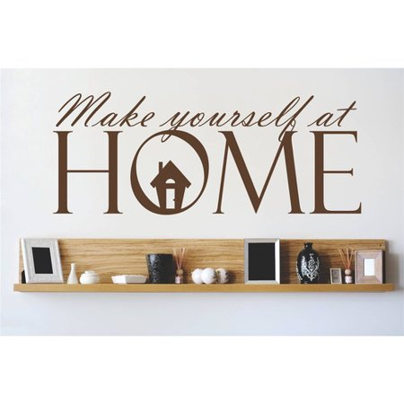 design with vinyl make yourself at home wall decal. Black Bedroom Furniture Sets. Home Design Ideas