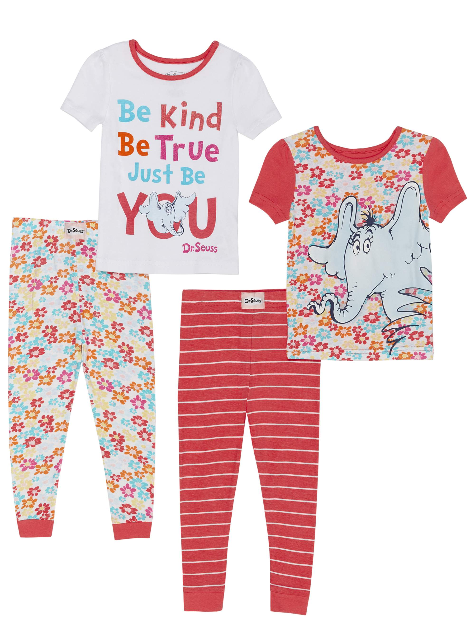 Horton Hears a Who Cotton Tight Fit Pajamas, 4pc Set (Toddler Girls)