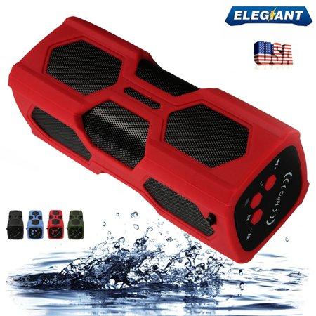 Portable Powered Loudspeaker - ELEGIANT Portable NFC Wireless bluetooth Speaker, Rechargeable Power Bank,  Waterproof Bass Loudspeaker Box