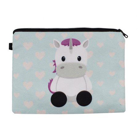 Womens Girls Stylish Unicorn Travel Cosmetic Case Makeup Bag Multi-use Pouch (Unicorn Aqua) - Unicorn Halloween Costume Makeup