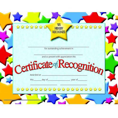 "Hayes Recognition Certificates, 8.5"" x 11"", Pack of 30"