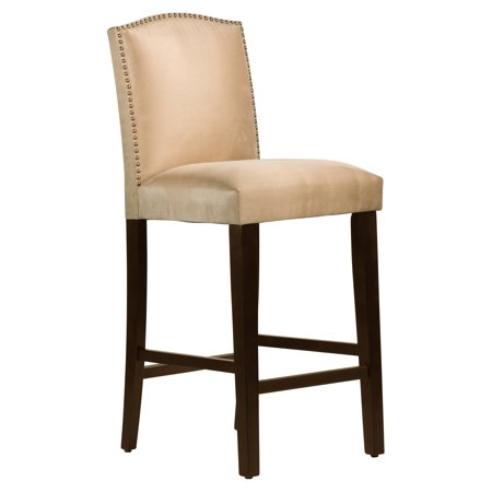 Skyline Nail Button Arched Bar Stool