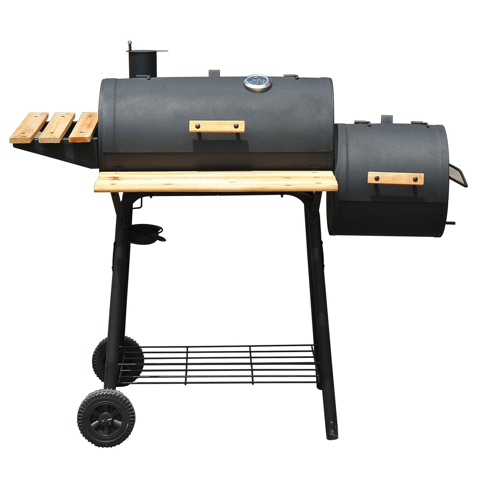 Outsunny Offset Barbeque Smoker Charcoal Grill