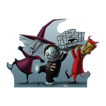 Lock Shock and Barrel (The Nightmare Before Chirstmas) Cardboard Stand-Up, 3ft (Cardboard Maze Halloween)