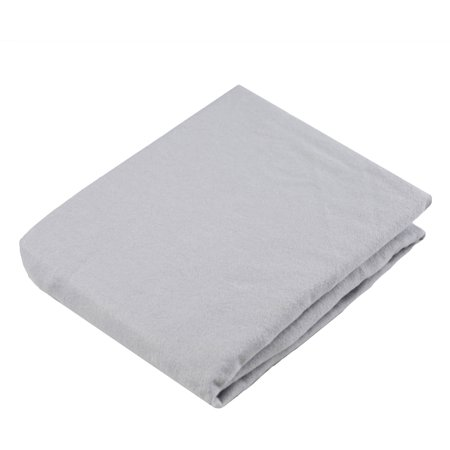 Kushies Change Pad Fitted Sheet with Slits for Safety Straps Flannel, Grey