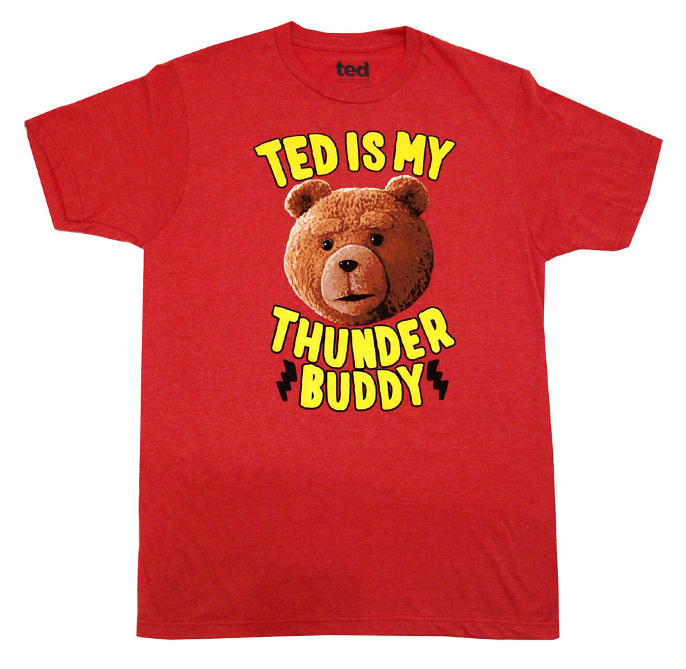 Ted Movie Thunder Buddy Funny Ripple Junction Adult T-Shirt Tee - image 1 de 1