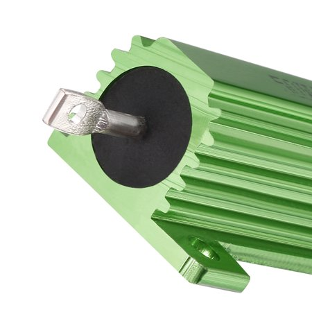50W 750 Ohm Aluminium Housing Chassis Mount Wirewound Power Resistor Green 2pcs - image 2 of 4