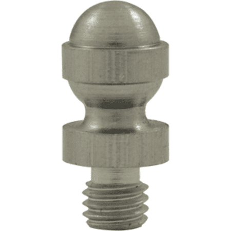 Decorative Solid Brass Acorn Tip Cabinet Hinge Finials Satin Nickel