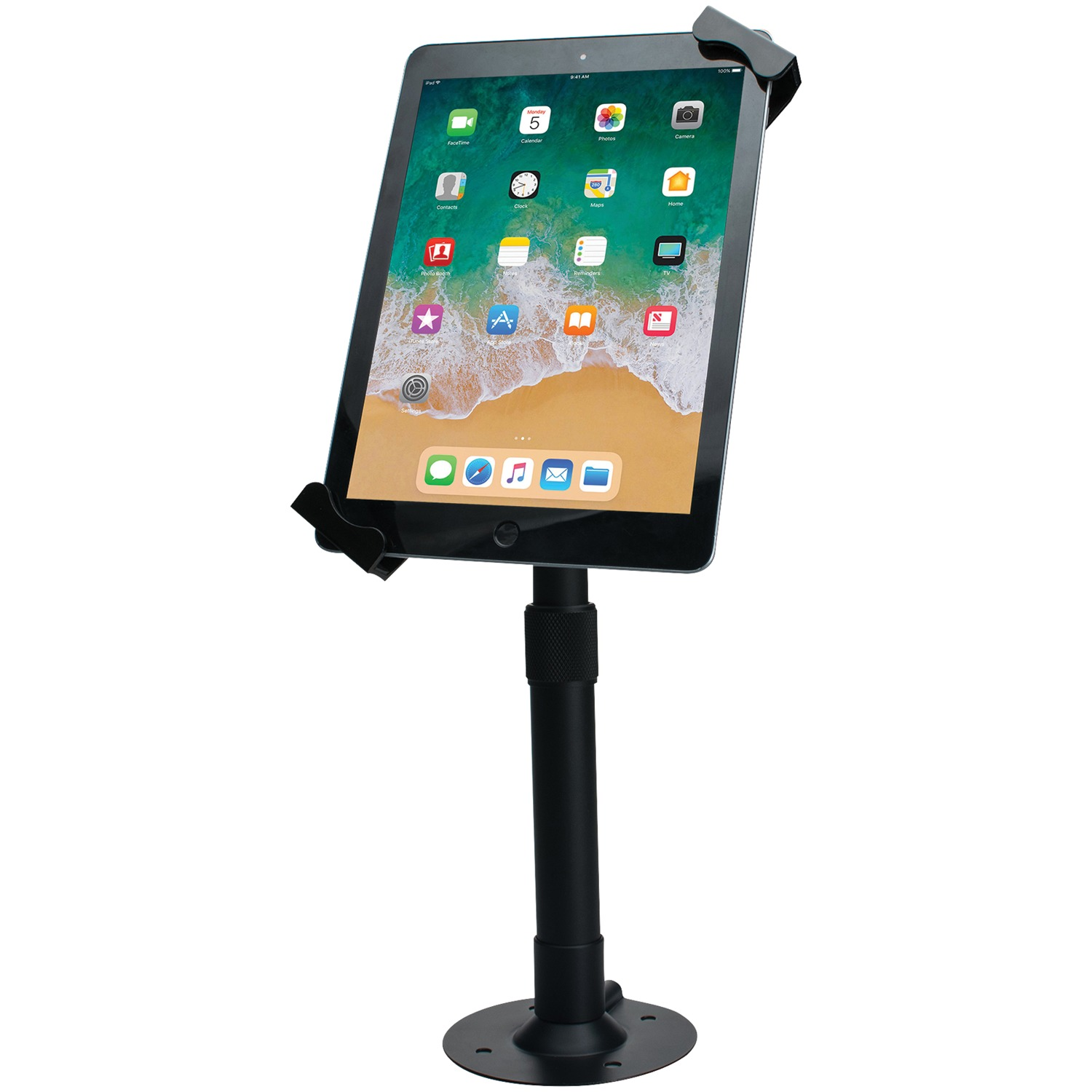 "CTA Digital PAD-HATU Universal Height-Adjustable Tabletop Security Mount for 7""–14"" Tablets"