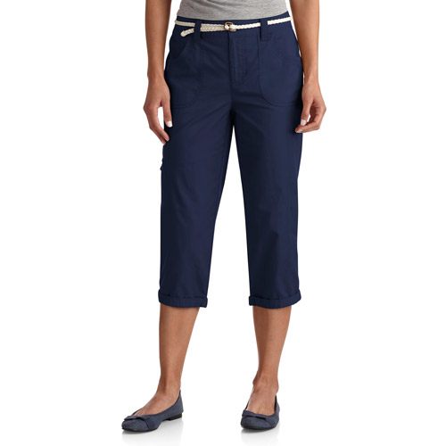 White Stag Women's Belted Cargo Capris
