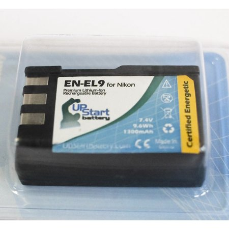 2x Pack - Nikon D40 Battery - Replacement for Nikon EN-EL9 Digital Camera Battery (1300mAh, 7.4V, Lithium-Ion) - image 1 of 3