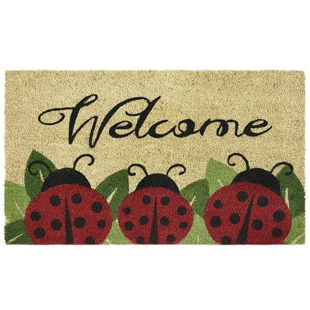 PCM1830LB6 Ladybug Printed Coir Door Mat 18