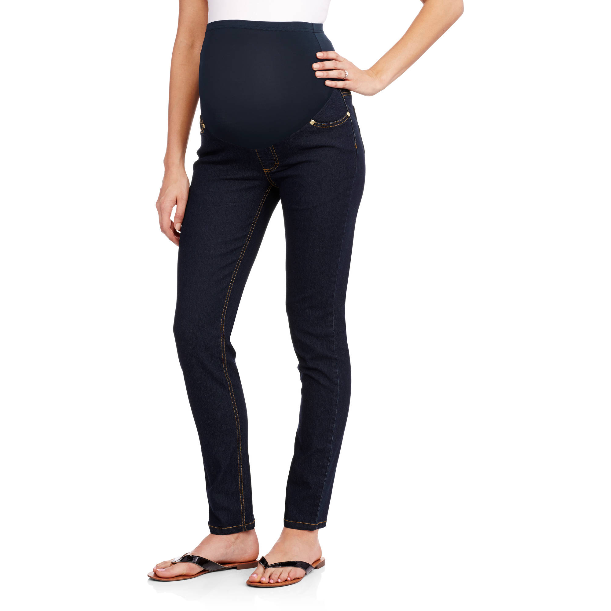 Oh! Mamma Full-Panel Super Soft Skinny Maternity Jeans