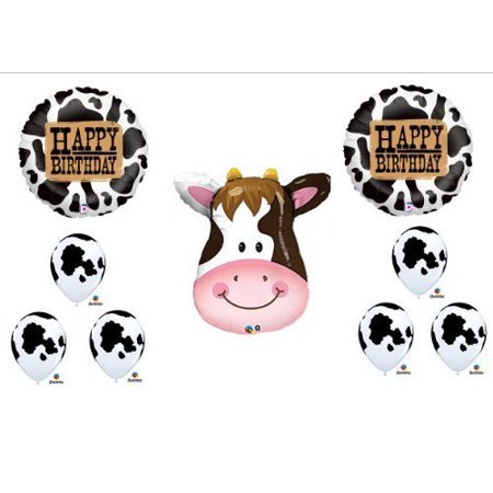 COW Western Happy Birthday Rodeo Farm Balloon Party Decorations Set Bouquet