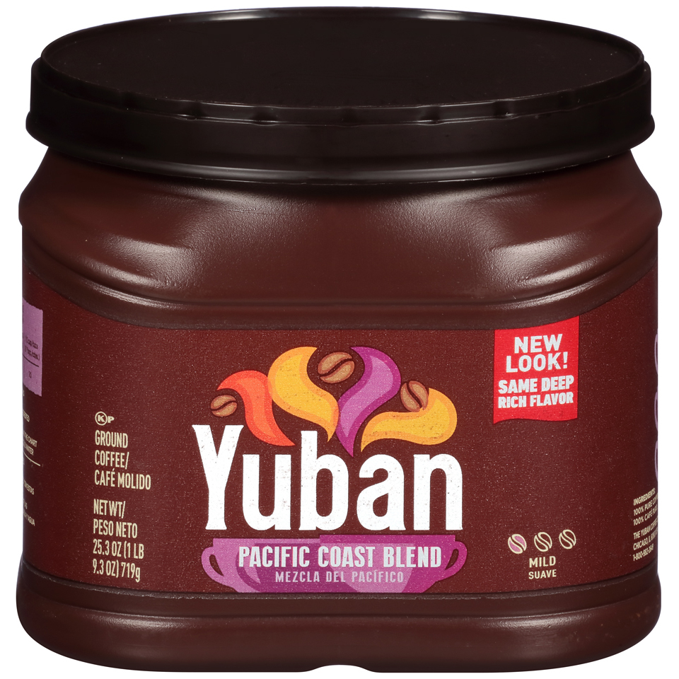 Yuban Pacific Coast Blend Ground Coffee 25.3 oz. Tub