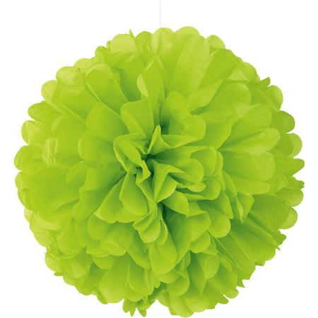 Tissue Paper Pom Pom, 16 in, Neon Green, 1ct ()