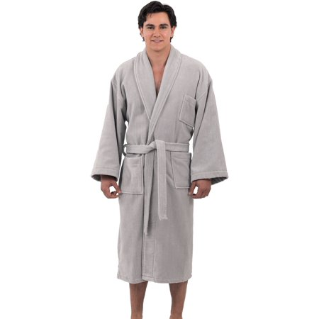 Alpine Swiss Aiden Mens Cotton Terry Cloth Bathrobe Shawl Collar Velour Spa Robe (Terry Cloth Bath Robe Kids)