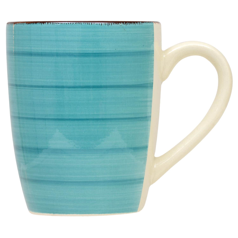 Royal Norfolk Turquoise Swirl Stoneware 4 Pack Plates