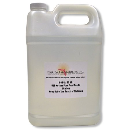 Propylene Glycol & Vegetable Glycerin, 60% PG 40% VG, 1 Gallon, Food