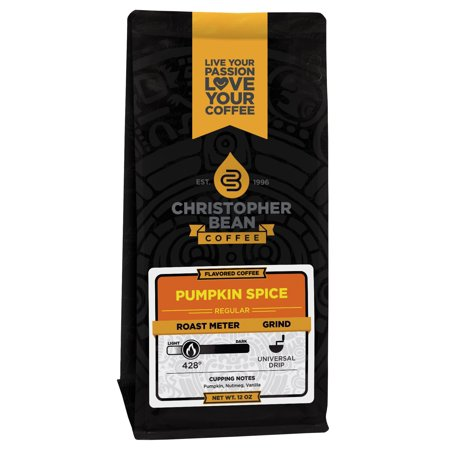 Pumpkin Spice Flavored Decaf Ground Coffee, 12 Ounce Bag
