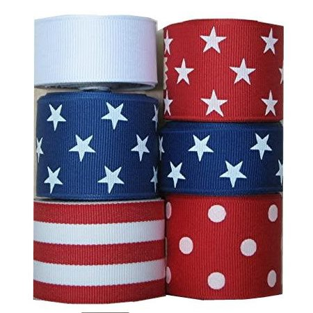 30 Yds Red / White / Blue Stars, Solids, Stripe Grosgran Ribbon](Star Wars Ribbon)
