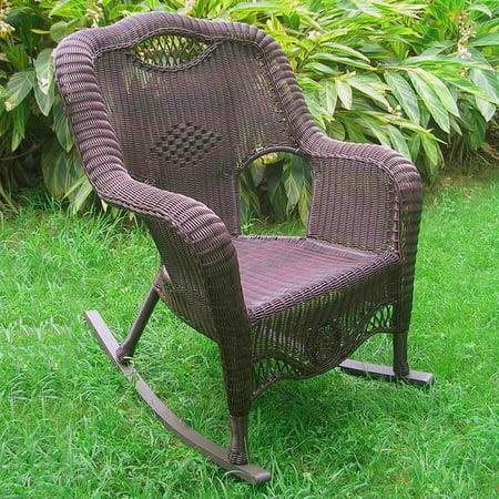 Incredible International Caravan Maui Resin Wicker Outdoor Rocking Chair Walmart Com Inzonedesignstudio Interior Chair Design Inzonedesignstudiocom