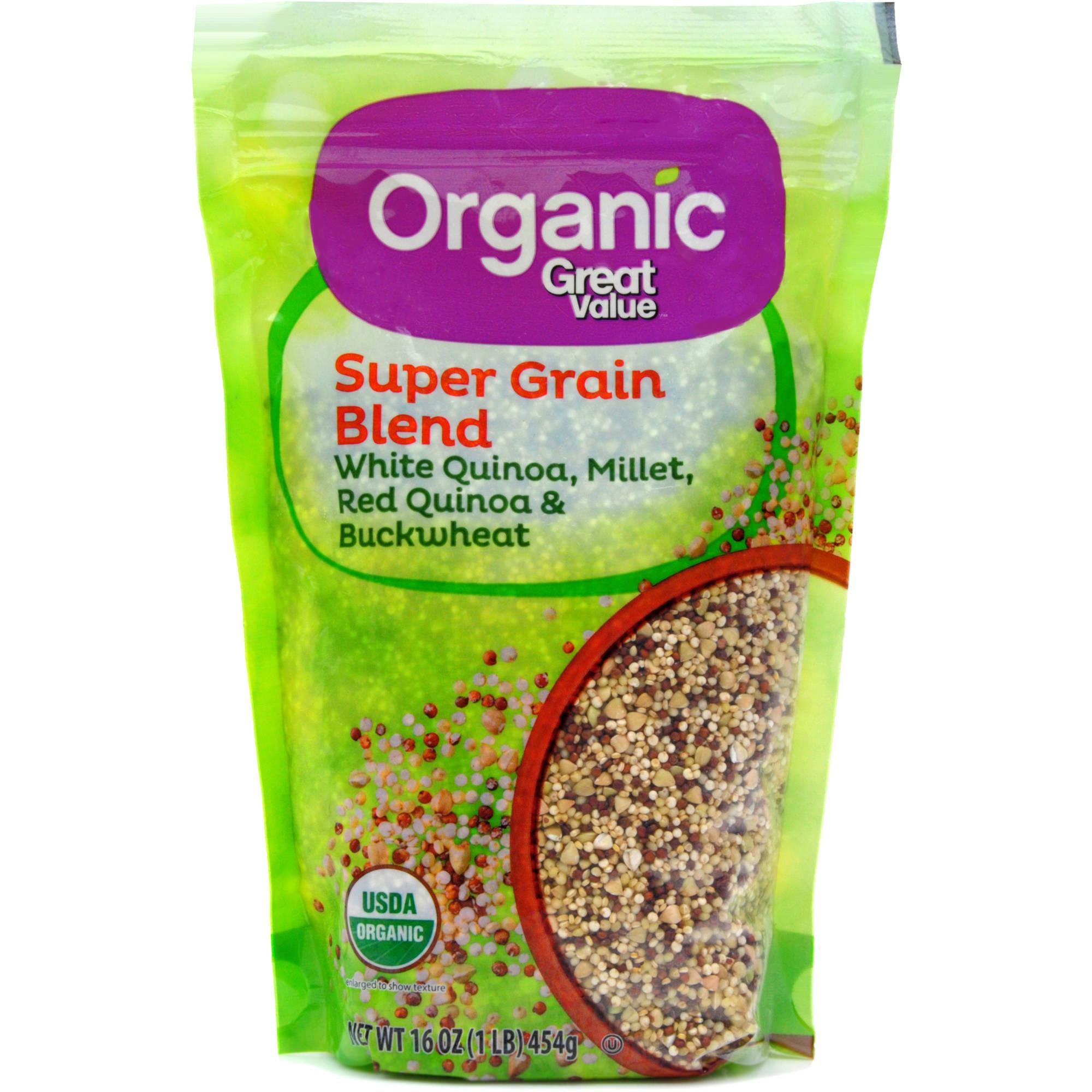(2 Pack) Great Value Organic Super Grain Blend, 16 oz