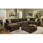 5-Pc Sectional Set with Ottoman in Chocolate