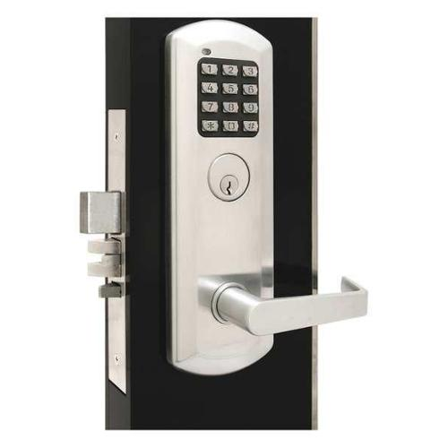 TOWNSTEEL XME-2070-Q-626 Classroom Lock, Stin Chrome, Quest Lever