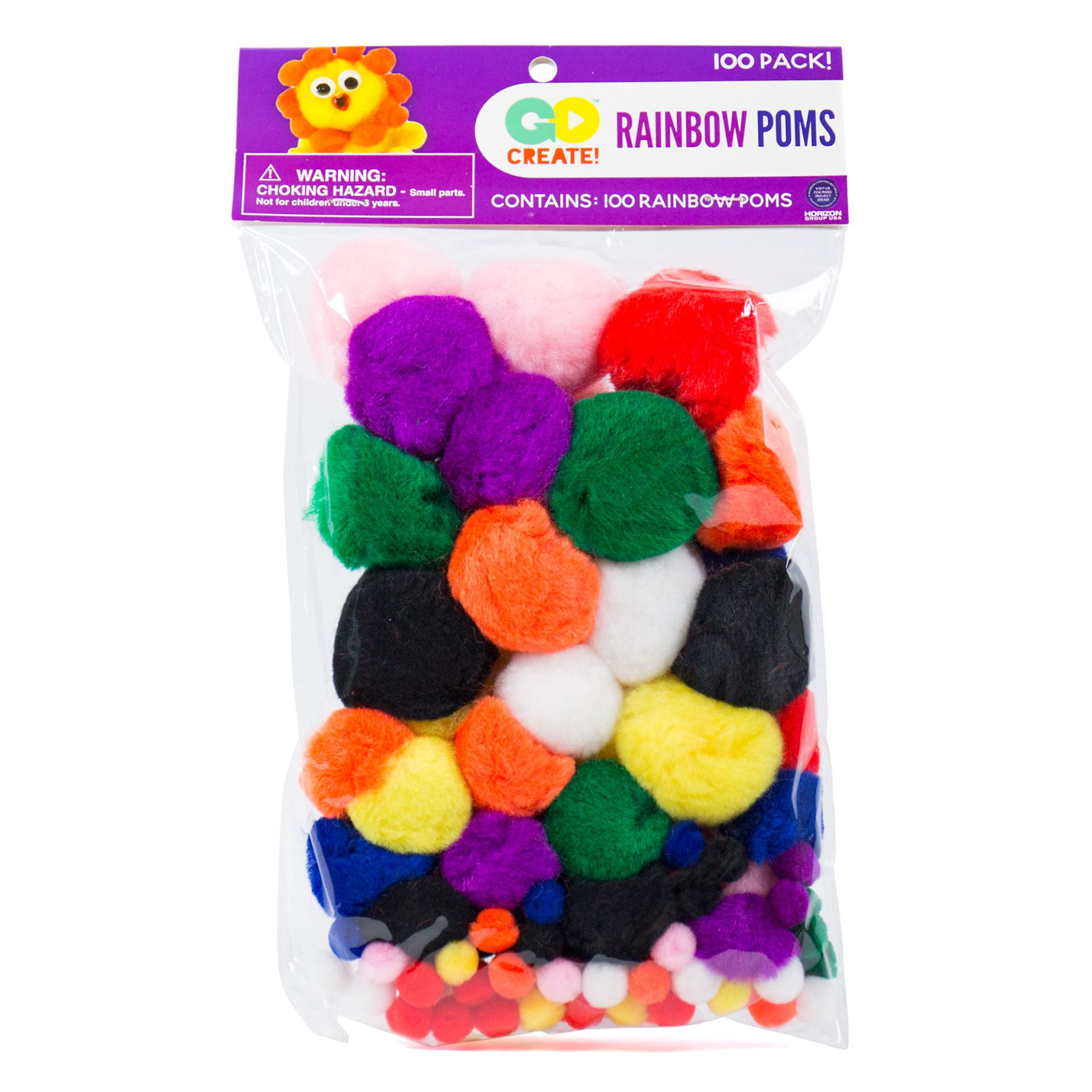 approx 6-10mm Pack of 100 SPRING Pom Poms