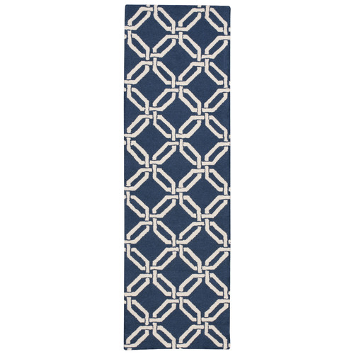 Nourison Linear Chic and Cosmopolitan Navy Area Rug
