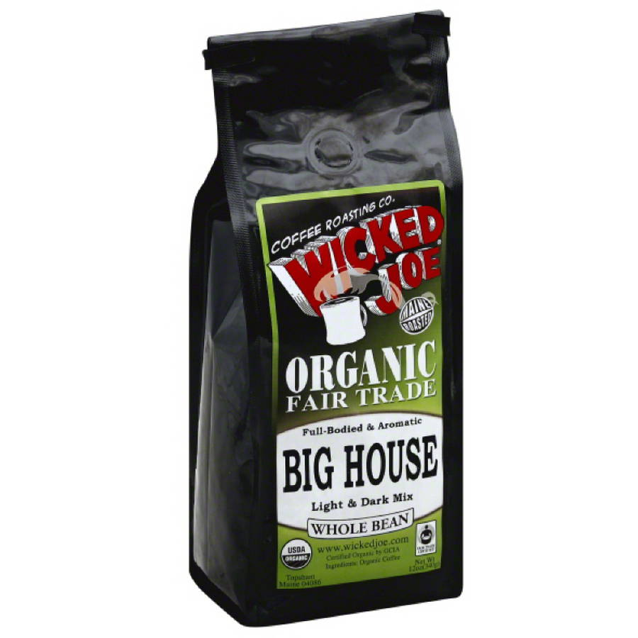 Wicked Joe Big House Light & Dark Mix Whole Bean Coffee, 12 oz, (Pack of 6)
