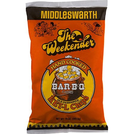 Middleswarth Hand Cooked Old Fashioned Ket L Potato Chips Bar B Q Flavored The Weekender  4 Bags