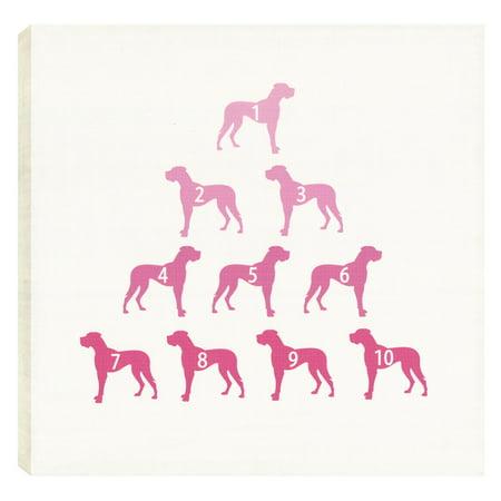 ArtMaison Canada Dog Lovers Pink Wall Art (Canada Pick)