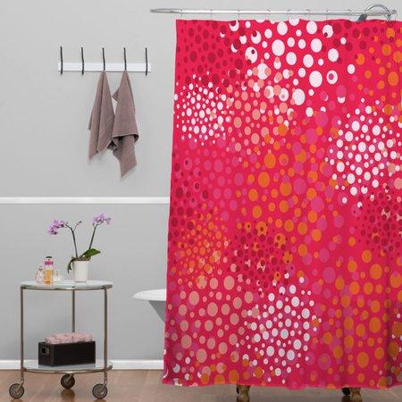 Brayden Studio Banda Brady Dots 2 Shower Curtain