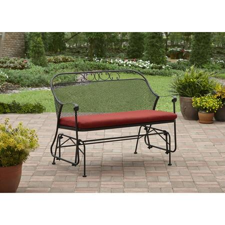 Prime Better Homes Gardens Clayton Court Outdoor Glider Red Machost Co Dining Chair Design Ideas Machostcouk