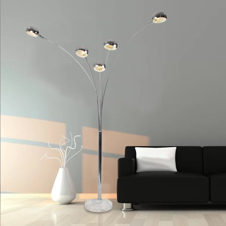 "Incadozo 78"" Marble Base Floor Lamp"