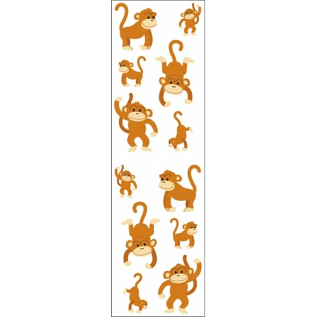 Mrs. Grossmans Stickers-Playful Monkeys - image 1 of 1