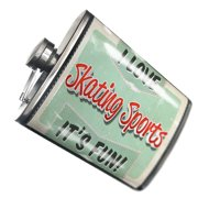 NEONBLOND Flask I Love Skating Sports, Vintage design